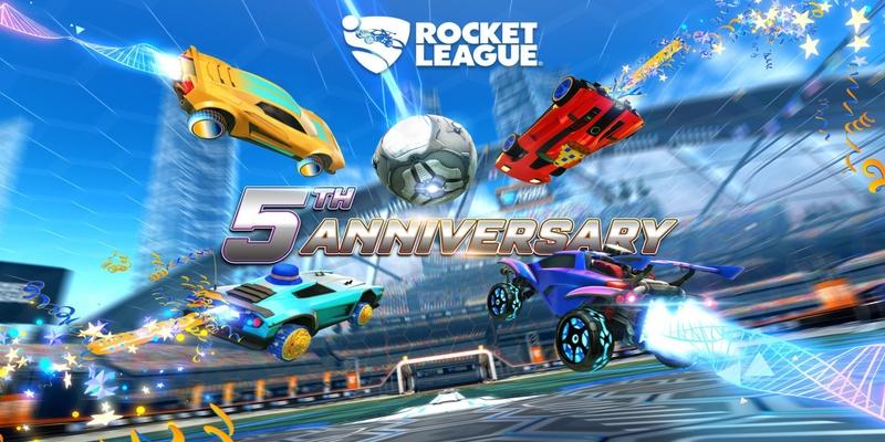 A celebração do quinto aniversário da Rocket League