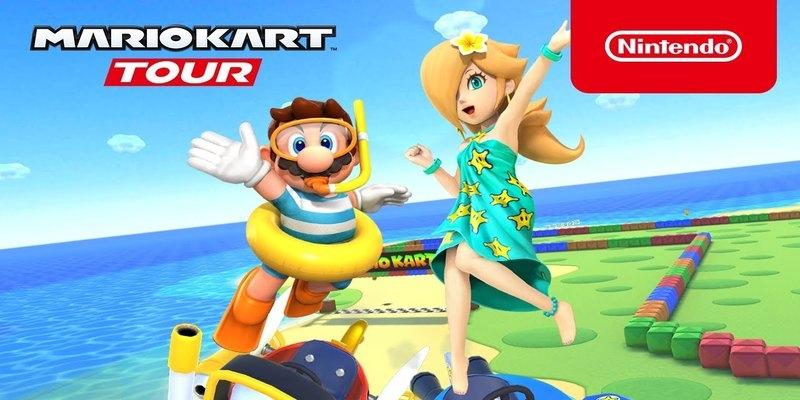 Verão no Mario Kart Tour